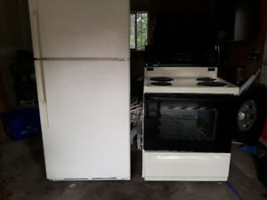 GE Refrigerator and Stove