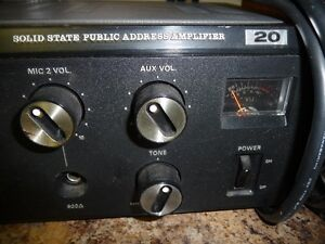 SOLID STATE PUBLIC ADDRESS AMPLIFIER 20 North Shore Greater Vancouver Area image 1