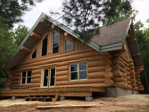 Handcrafted log home shell-diamond cut notches_ Cornwall Ontario image 9