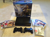 PS3 Console 250GB, 2 Controllers, 6 games