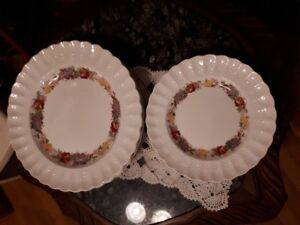"Copeland Spode ""Rose Briar"" 4dinner and 4 salad plates set"