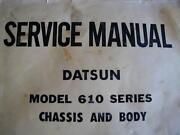 DATSUN 610 SERIES SERVICE MANUAL CHASSIS AND BODY c1975 Dianella Stirling Area Preview