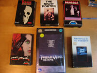 VHS ( horreur, sc, fiction, ninja, adult,drame, rare,astral