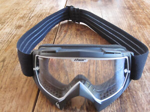 Thor Enemy Motocross Goggles (Youth) and Thor Motocross Gloves (