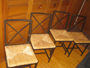 SET OF 4 IKEA RUSH SEAT CHAIRS REDUCED TO 40.00