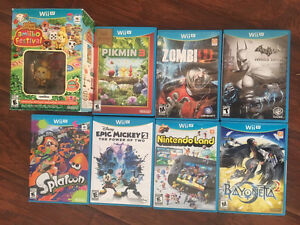 WiiU Wii u games splatoon, animal crossing bayonetta 2