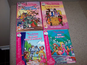 4 french TEA STILTON softcover books