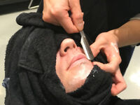 Barber Hot Towel Straight Razor Shave  Shave Course Workshop