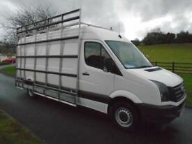VOLKSWAGEN CRAFTER CR35 136PS TDI LWB GLASS RACK VAN 14 REG 85,000 MILES
