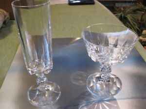 Crystal Wine glasses, Champagne glasses, Water Goblets