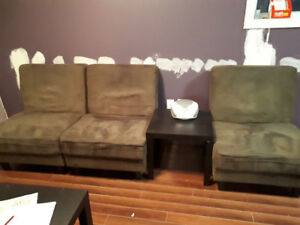 Free chairs and coffee table
