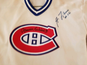 Montreal Canadians Jersey signed by The Rocket and Guy LaFleur