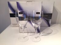New and boxed. Darlington crystal Eleanor wine glass goblets. From John Lewis