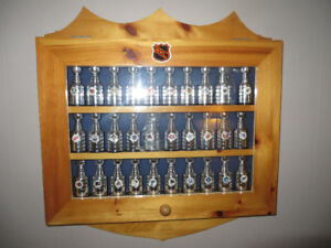 Labatt Stanley Cups--Complete Set 30--Display Cabinet--Reduced