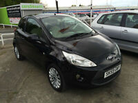 59 reg Ford Ka 1.2 Zetec BLACK GUARANTEED FINANCE AVAILABLE
