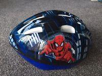 Kids Spider-Man helmet used once.