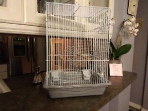 Bird cage, white