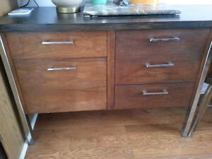 Mid-Century Chrome & Teak desk/credenza Peterborough Peterborough Area image 2