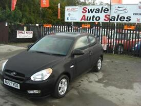 2007 HYUNDAI ACCENT ATLANTIC 1.4L ONLY 33,842 MILES, FULL SERVICE HISTORY