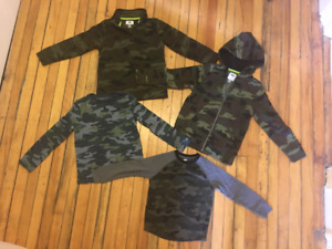 cammo shirts - size 5 and 6-7