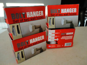 Awesome Bolt Hanger 2 Pack Wall Hooks -4 Brand new Sets -$11.50