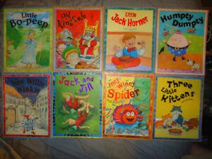 FAIRY TALE AND NURSERY RHYME SET OF 8 BOOKS