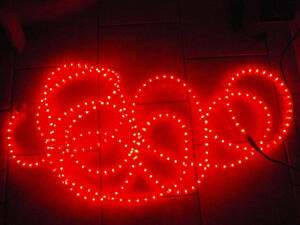 Christmas Holiday Red LED rope lights - outdoor or indoor