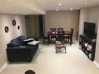 Clean and spacious basement