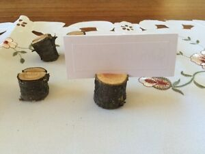 Wooden card holders for wedding