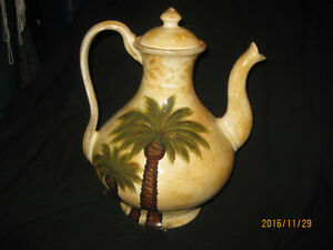 Palm Tree Dishes,Cruet,Teapot,Bowl