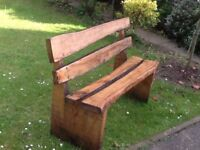 Lovely Rustic Wood Garden Bench