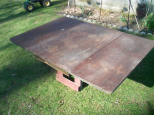 Folding table top