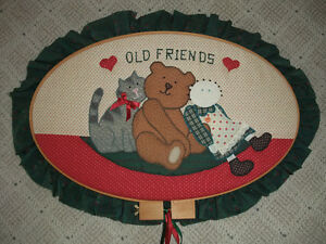 Quilted Teddy Bear & Friends Picture for the Wall