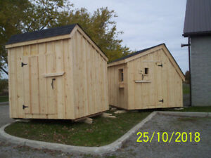 Board & Batten Sheds with full floor,  Student built
