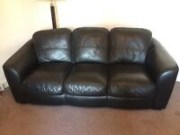 3 seater leather sofa/couch