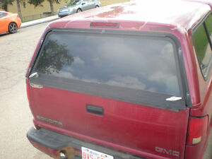 """Red truck Cap tinted glass has liner...60"""" X 78"""""""