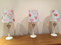 3 pretty floral/heart LAMPS