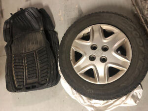 Winter Tires, Steel Weels and Car Foot Mat for Sale
