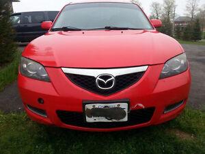 Red 2008 Mazda3