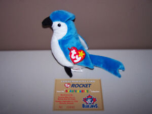 Toronto Blue Jays TY ROCKET BEANIE BABY rare with errors