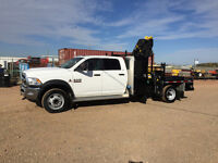 2014 Dodge Cummins 4x4 crew cab SLT 5500 with 077 Hiab picker