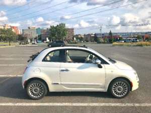 2012 FIAT 500c Lounge, CONVERTIBLE, LEATHER, BLUETOOTH