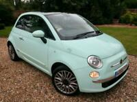 2015 (65) Fiat 500 1.2 69bhp s/s LOUNGE MINT GREEN, PANORAMIC ROOF