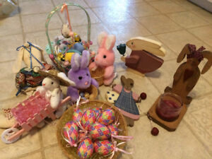variety of Easter decorations