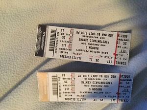 Marron 5 two tickets for Wednesday march 1