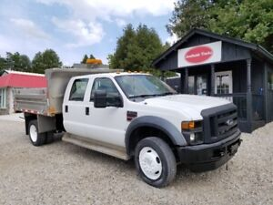 2008 FORD F450XL CREW CAB 9 FT ALUMINUM BOX