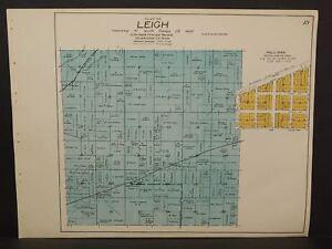 Minnesota Morrison County Map Leigh Townships c.1920 U1#98