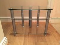 Glass Tiered TV Stand