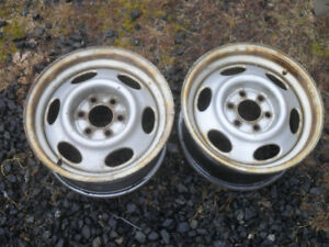 F/S     2 - 15'' Dodge 97-03 steel rims 6 bolt hole