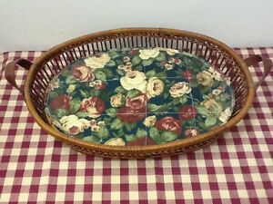 Wicker Basket with a Removable Pad
